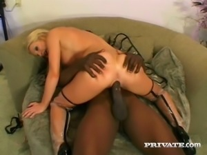 Extremely huge black cock tears apart pussy of white slut Cameron James