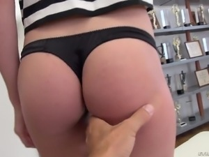 Zealous Russian 22 yo hottie Nikki Stills lets Rocco penetrate her tight ass