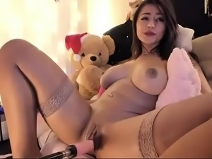 Horny Latina fucking robot toy for fun live cam