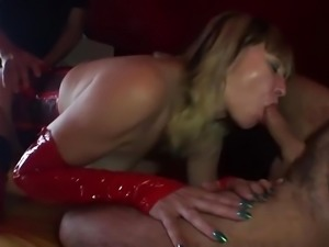 German MILF get fucked by two men