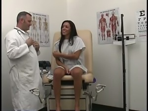 Horny chick Trixie Cas goes to her horny doctor for a pelvic exam