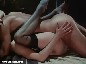 Incredibly steamy retro sex with a buxom honey and her wild stud