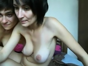 Horny and oiled lesbian action as big boobs girl comes hard