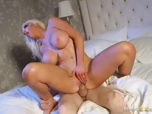 Giant tits of Nicolette Shea only can be paired with a monster cock