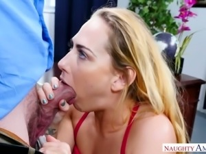 Randy secretary Carter Cruise gets fucked by her horny boss at work
