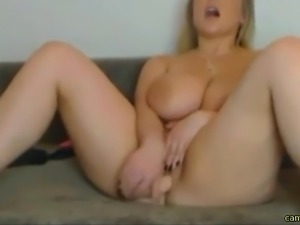 Hot chubby woman masturbating live for us on webcam