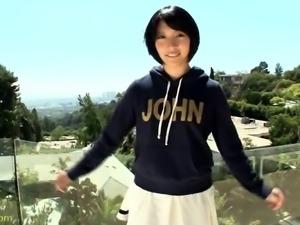 Pretty Japanese teen satisfies her desire for black meat