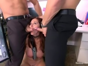boss gets gangbanged in the office