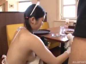Salacious cock sucker Yuna Ema slurping a delicious manhood