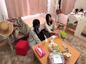 Two adorable Japanese girls explore their lesbian desires