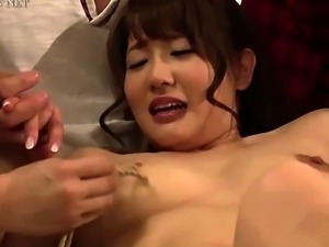 Stacked Oriental slut has a gang of boys plowing her cunt