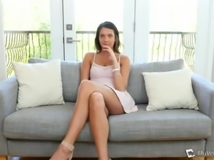 Seductive well-packed beauty Brooke Myers has a fancy to ride black cock