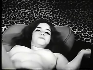Vintage erotica video from a sexy babe with bushy pussy