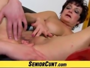 Old vagina in great details feat. Greta