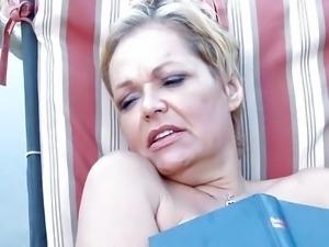 Cute blonde slut is in need of mature wood to pleasure her