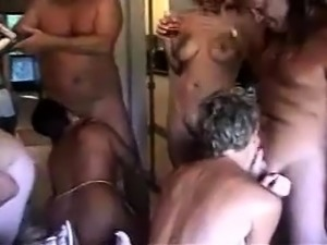 Old swingers swapping partners and bathing in hot cum