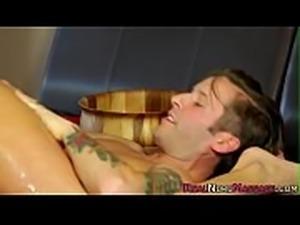 Naughty masseuse gets cum