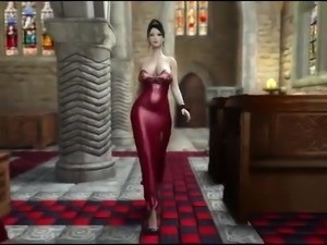 Big breasted 3D beauty has a huge cock invading her snatch