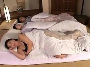 Buxom Japanese milf has a nerdy boy enjoying her wet pussy