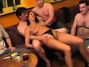 Group Sex with raunchy redhead