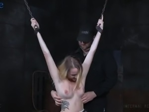 Ardent nympho Iris Rose gets really into steamy hardcore BDSM stuff