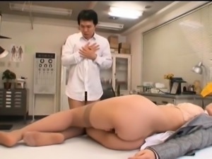 Buxom Oriental babe has a juicy peach aching for hard meat