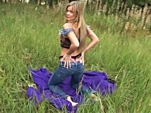This blonde loves being an exhibitionist and she is a nature freak
