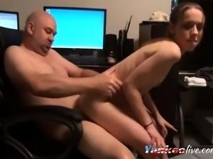 Super skinny girl gets boned in her ass