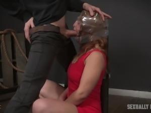 Ukrainian slutty Fallon West tries out some hardcore pounding in BDSM style