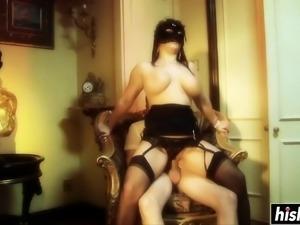 Kristi Love in stockings gets fucked