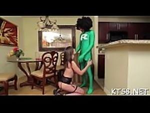 Bitch with shlong enjoys anal fuck