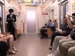 Great public sex scene with chick fucking a passenger