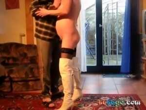 Homemade Granny in Boots and Stockings Fucks