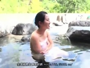 Busty Japanese wife enjoys hot group sex in the outdoors