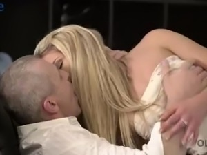 Beautiful Czech girl Claudia Mac pleases strong fat cock of older man
