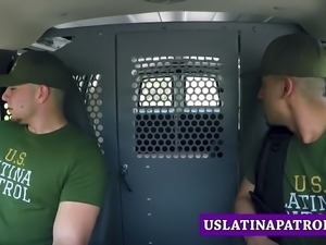 Blonde skinny Latina roughly fucked by a Patrol Officer