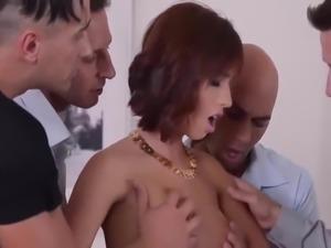 Tina has sex with four dick