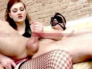 Peter under full control by sexy mistress
