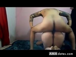 Amateur couple on webcam fucking doggystyle