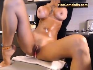 Big Tits beauty powerful orgasm