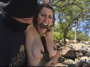 Outdoor BDSM set with only the hottest slaves