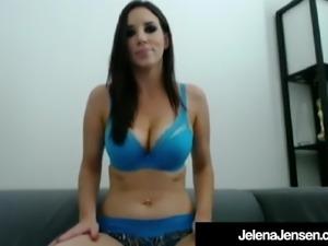 Hot Penthouse Pet Jelena Jensen Rubs & Fucks Hitachi & Dildo