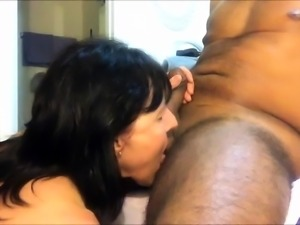 Horny brunette wife has a black guy drilling her fiery holes