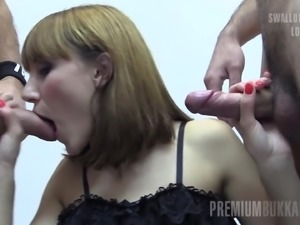 This absolute sweetness Michelle is ready to swallow some steaming spunk!...