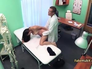 Brunette enjoyed fucking hot doctor