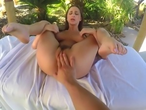 Awesome POV video of sexy Ashley Adams riding firm boner cock