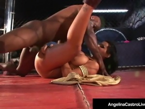 Cuban Sex Queen Angelina Castro Grinds BBC In A Cage Fight!
