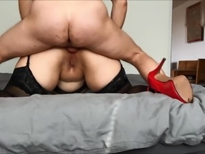 Anal with too small dick but finally nice cumshot