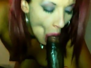Latina get mouthful of cum