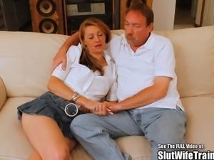 Skinny Blonde Slut Wife Fucks for DVD